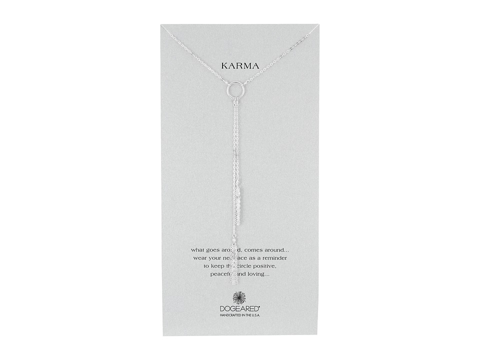 Dogeared Karma Double Tassel Y Necklace Sterling Silver Necklace