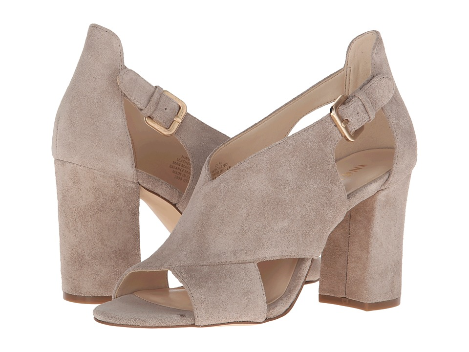 Nine West Boland Taupe Suede High Heels