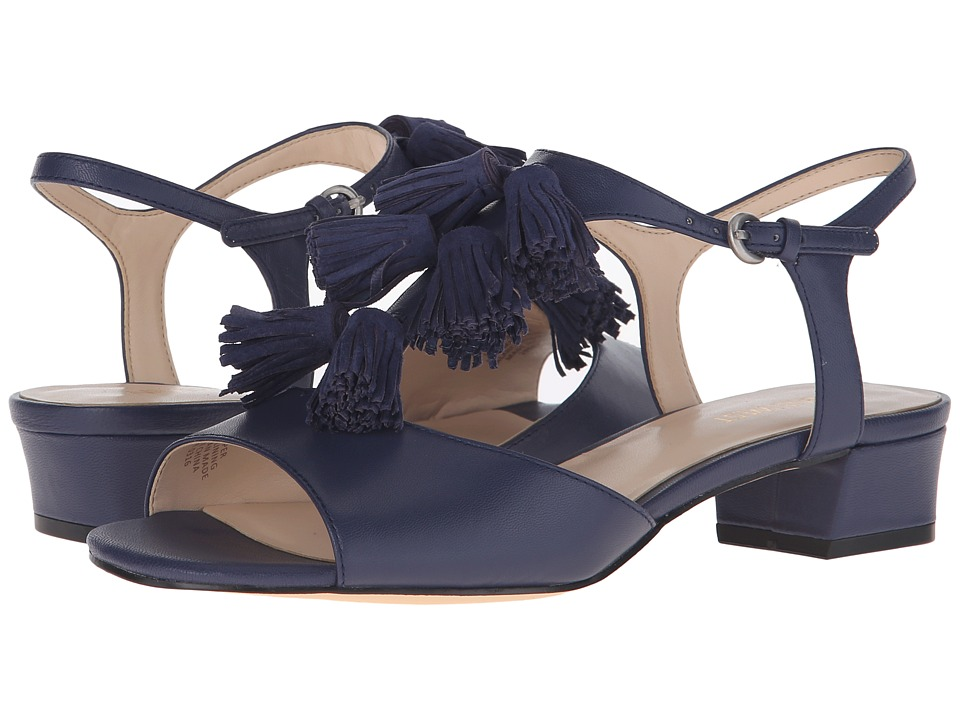 Nine West Daelyn Navy/Navy Leather Womens Sandals