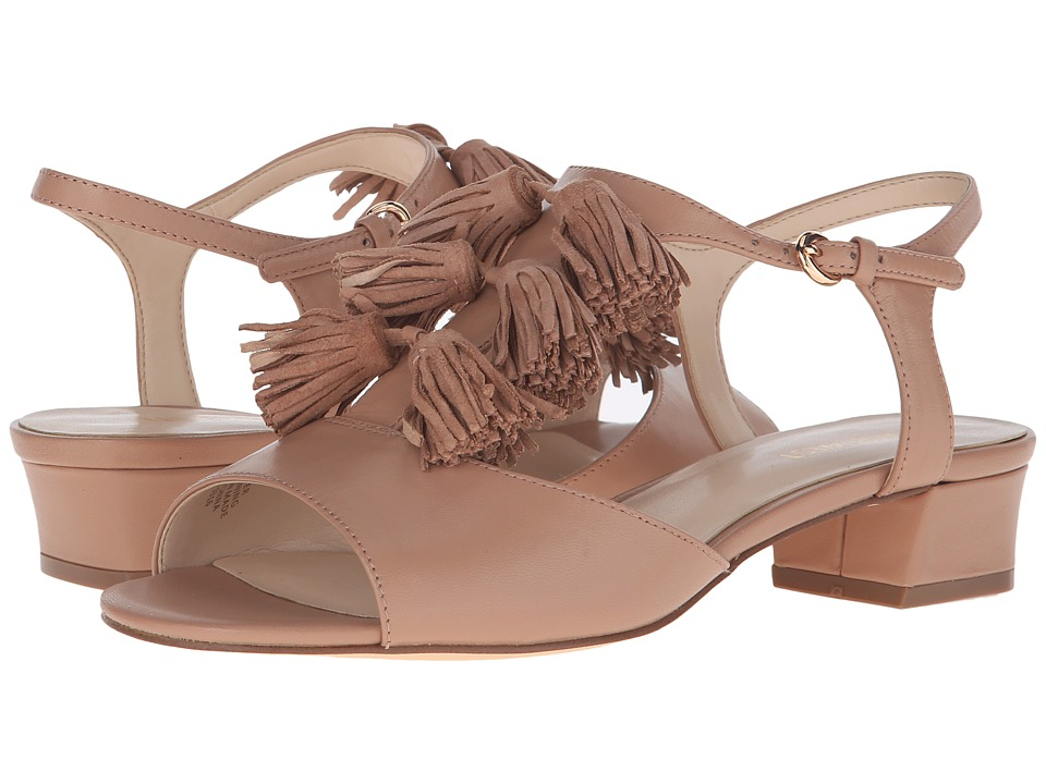Nine West Daelyn Natural/Natural Leather Womens Sandals
