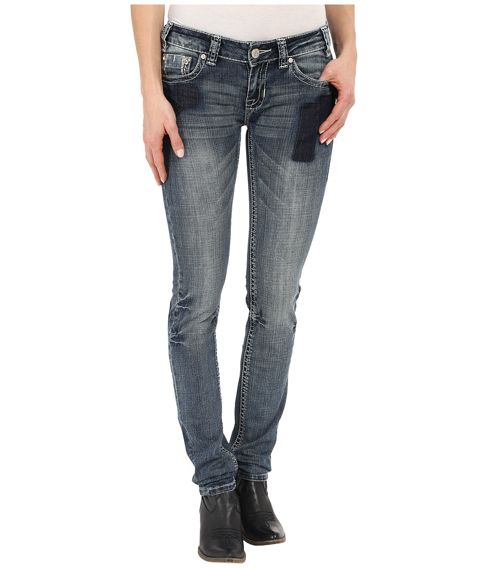 Rock and Roll Cowgirl Low Rise Skinny in Medium Vintage W0S6425 Medium Vintage Womens Jeans