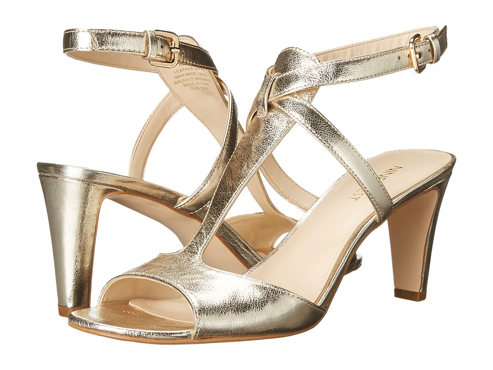 Nine West Deara Light Gold Metallic High Heels