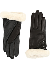UGG - Art Deco Stud Smart Gloves w/ Short Pile Trim