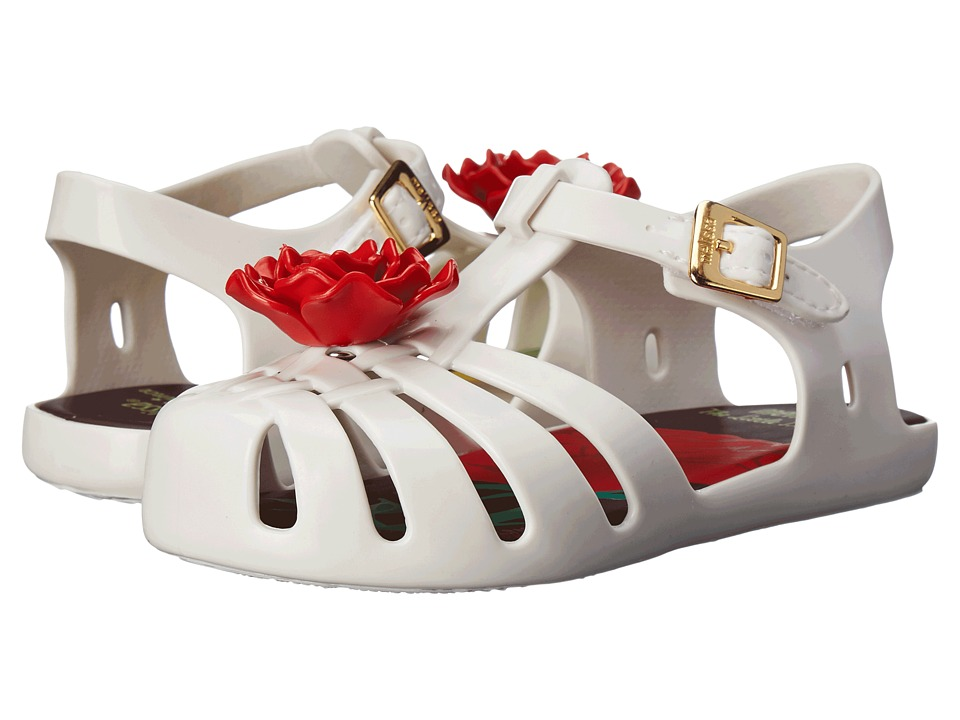 Mini Melissa Aranha PP III Toddler White/Red Girls Shoes