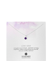 Dogeared - Love Gem Round Amethyst Bezel Necklace