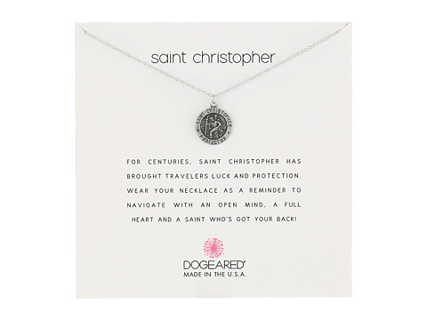 Dogeared Saint Christopher Travelers Reminder Necklace - Sterling Silver