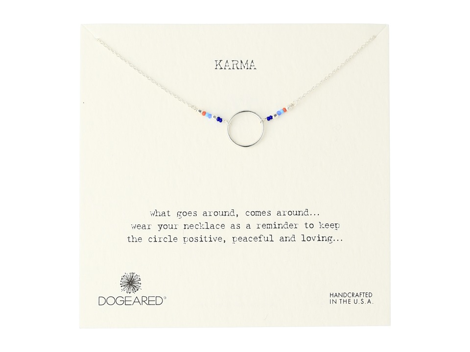 Dogeared Karma Mixed Seed Bead Necklace Sterling Silver Necklace