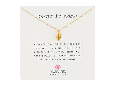 Dogeared Beyond the Horizon Cactus Reminder Necklace - Gold Dipped