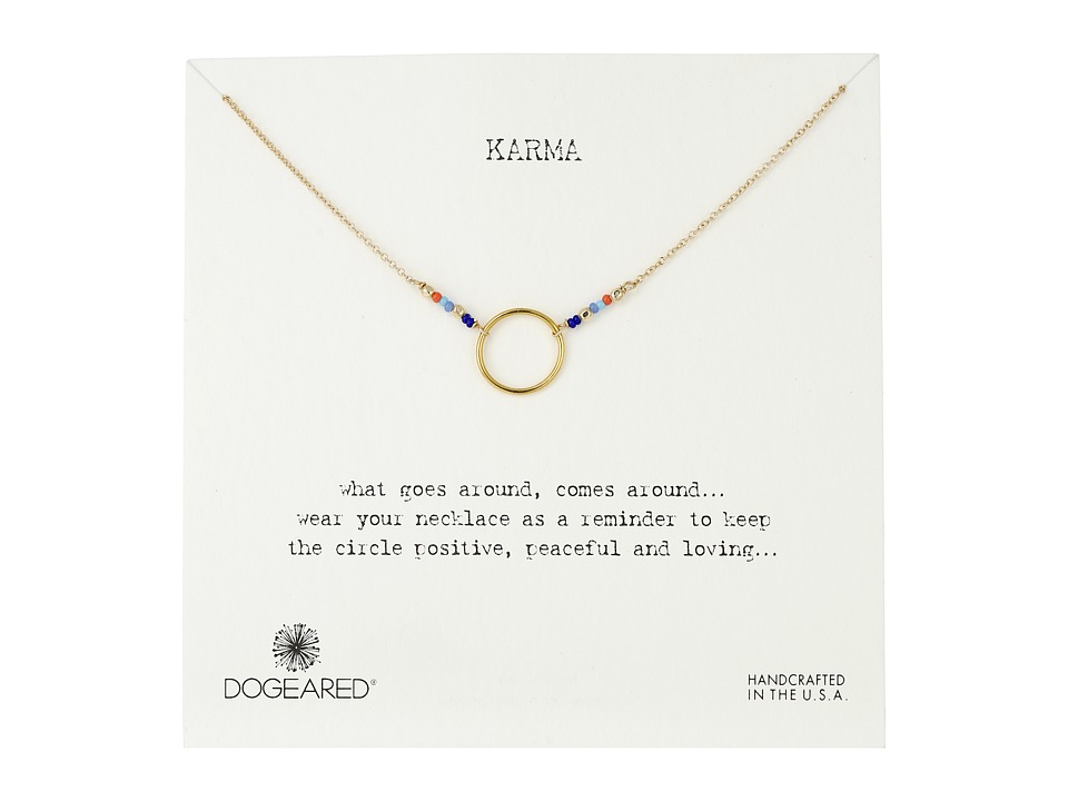 Dogeared Karma Mixed Seed Bead Necklace Gold Dipped Necklace