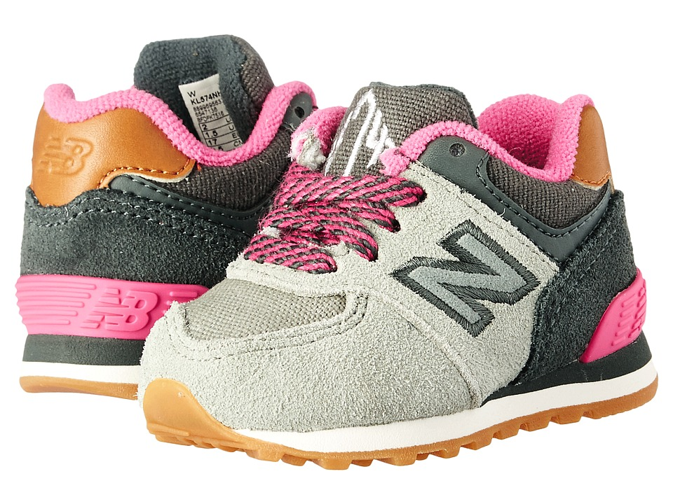 New Balance Kids - 574 New England (Infant/Toddler) (Grey/Pink 2) Girls Shoes