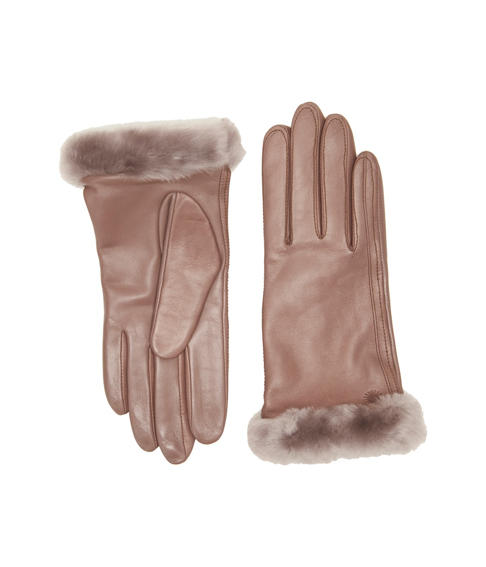 UGG Classic Leather Smart Glove (Stormy Grey Two-Tone) Dress Gloves