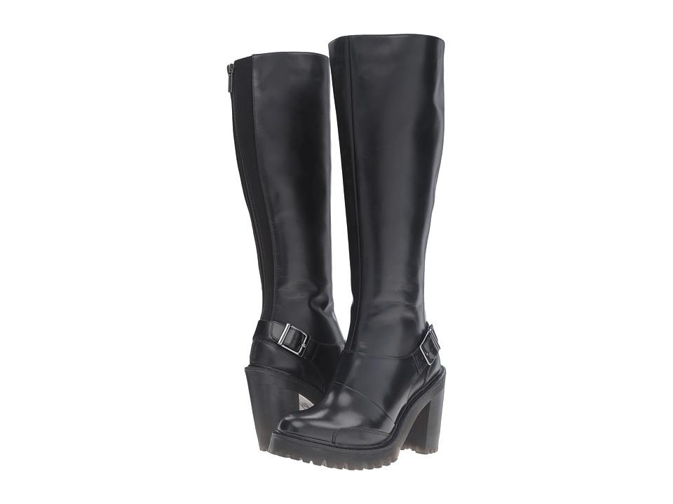 Dr. Martens Lyanna Knee High Boot (Black Polished Buttero) Women