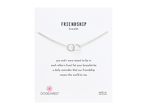 Dogeared Friendship Double Linked Rings Chain Bracelet - Sterling Silver