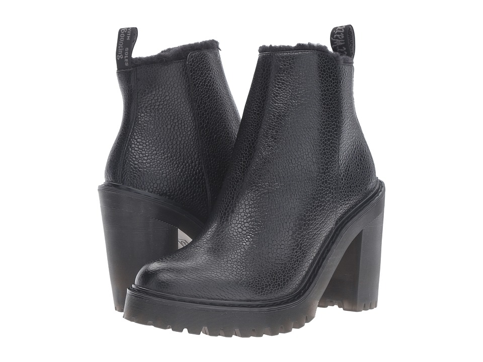 Dr. Martens Magdalena FL Ankle Zip Boot (Black Stone) Women