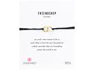 Dogeared - Friendship Double Linked Rings Silk Bracelet