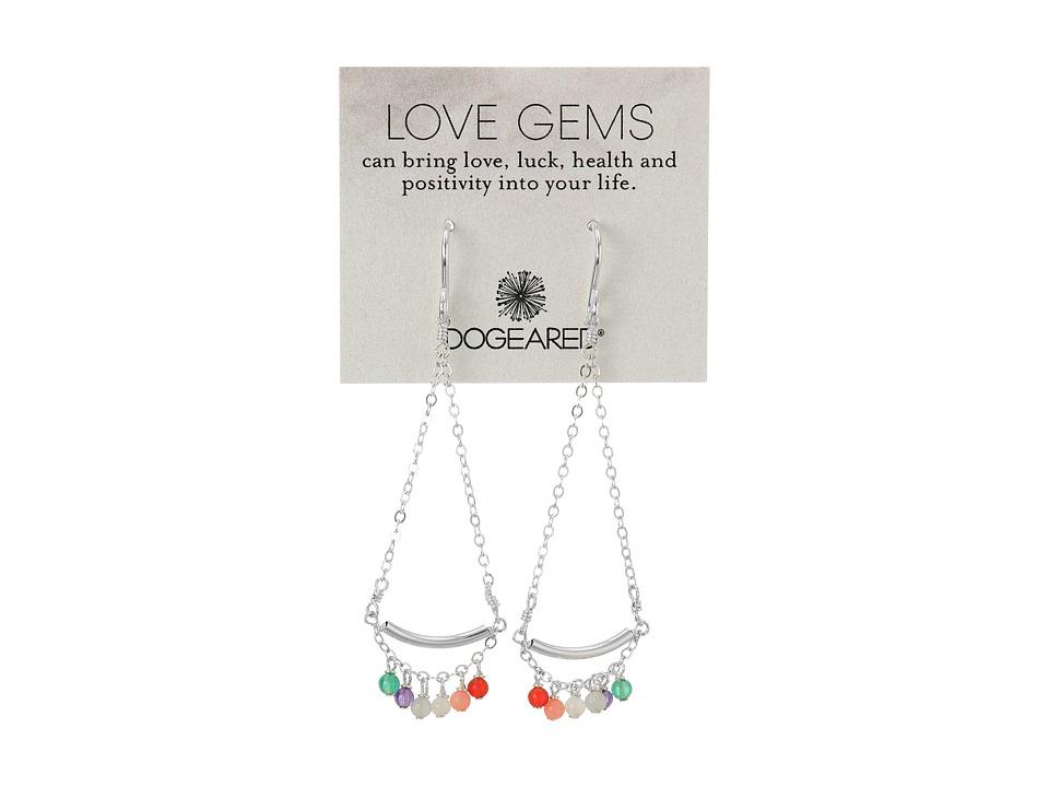 Dogeared Love Gems Multi Gem Swing Earrings Sterling Silver Earring