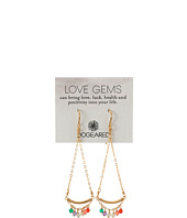 Dogeared - Love Gems Multi-Gem Swing Earrings