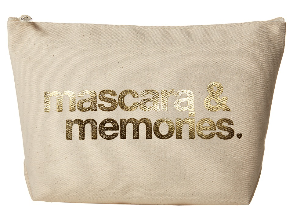 Dogeared Mascara Memories Gold Foil Lil Zip (Gold Foil/Canvas) Cosmetic Case