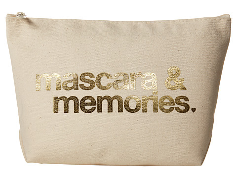 Dogeared Mascara & Memories Gold Foil Lil Zip - Gold Foil/Canvas