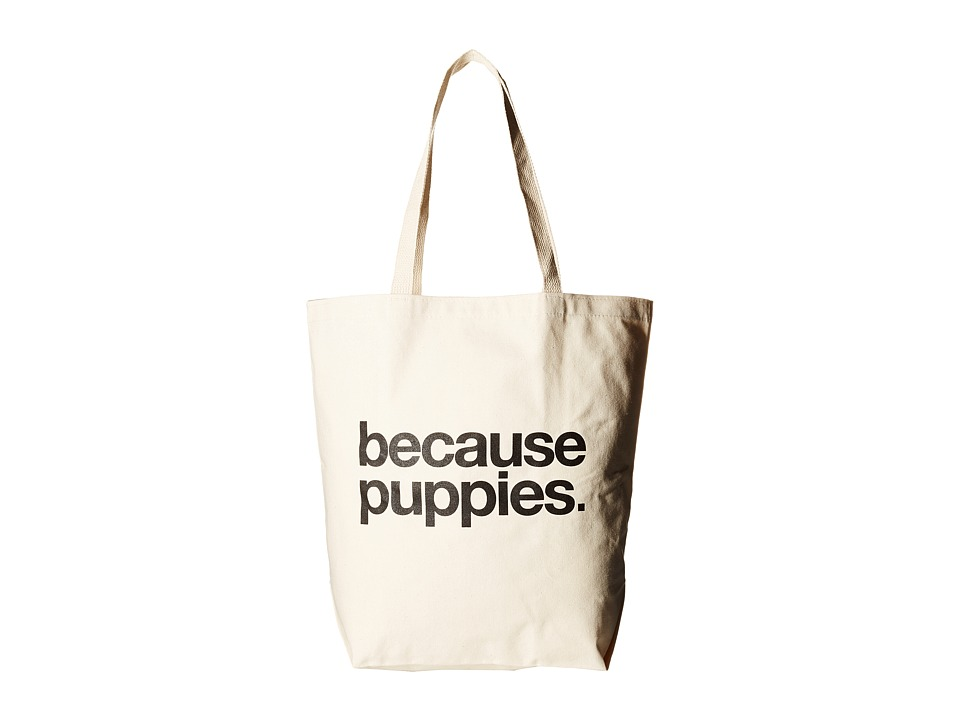 Dogeared - Because Puppies Tote (Black/Canvas) Tote Handbags