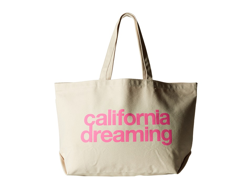Dogeared - California Dreaming Super Tote (Pink/Canvas) Tote Handbags
