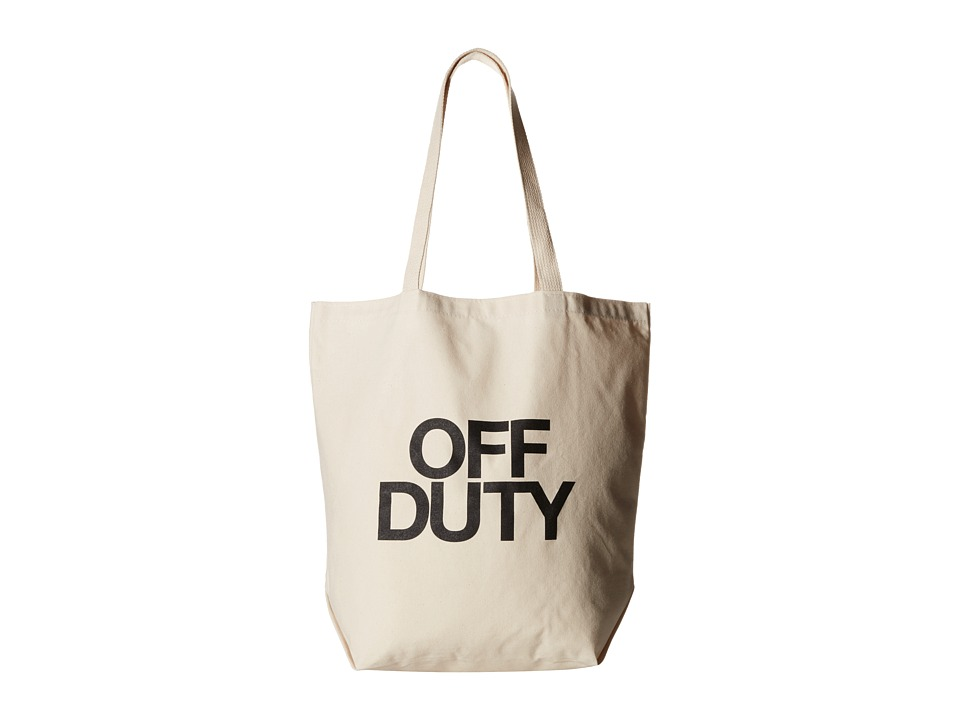 Dogeared - Off Duty Super Tote (Black/Canvas) Tote Handbags