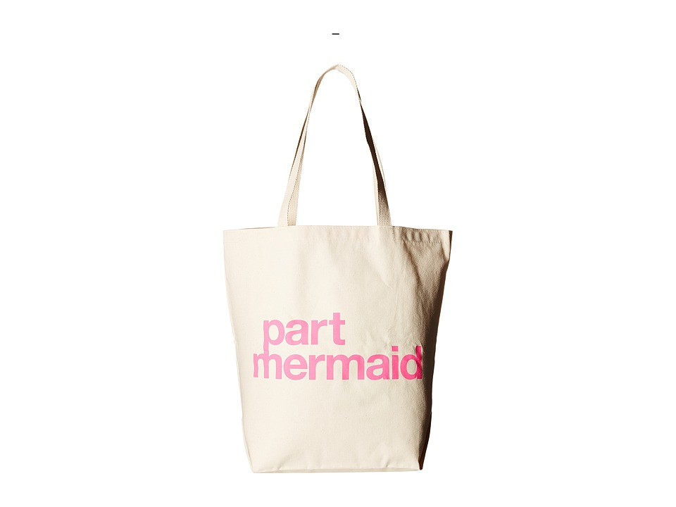 Dogeared - Part Mermaid Tote (Pink/Canvas) Tote Handbags
