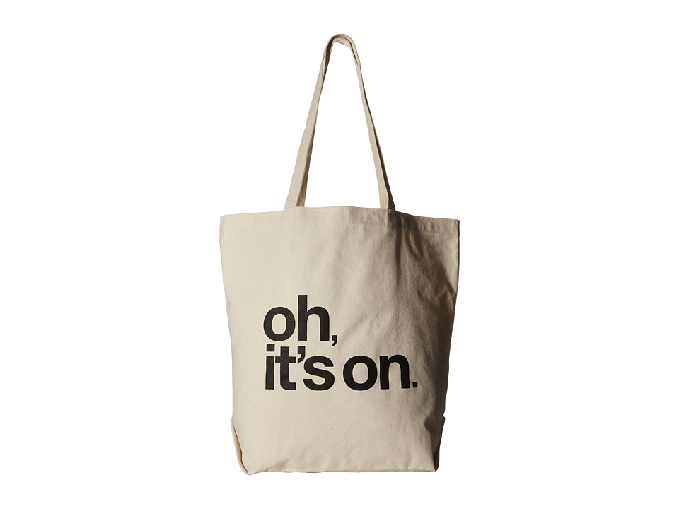Dogeared - Oh, It's On. Tote (Black/Canvas) Tote Handbags