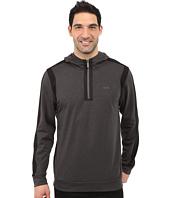 Calvin Klein - Quarter-Zip Ponte Knit Hoodie Sweatshirt