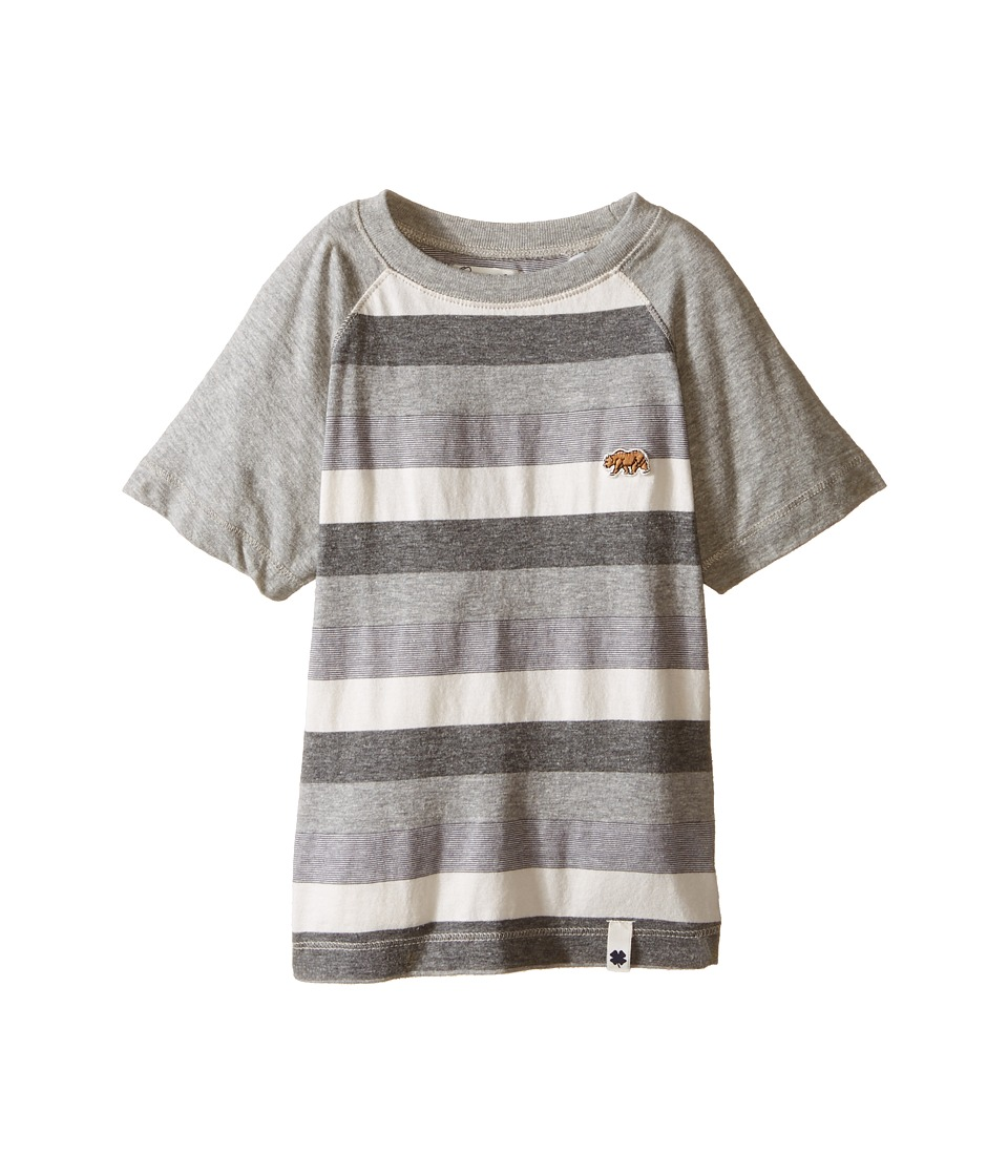 Lucky Brand Kids Bear Raglan Tee Toddler Heather Light Boys Short Sleeve Pullover