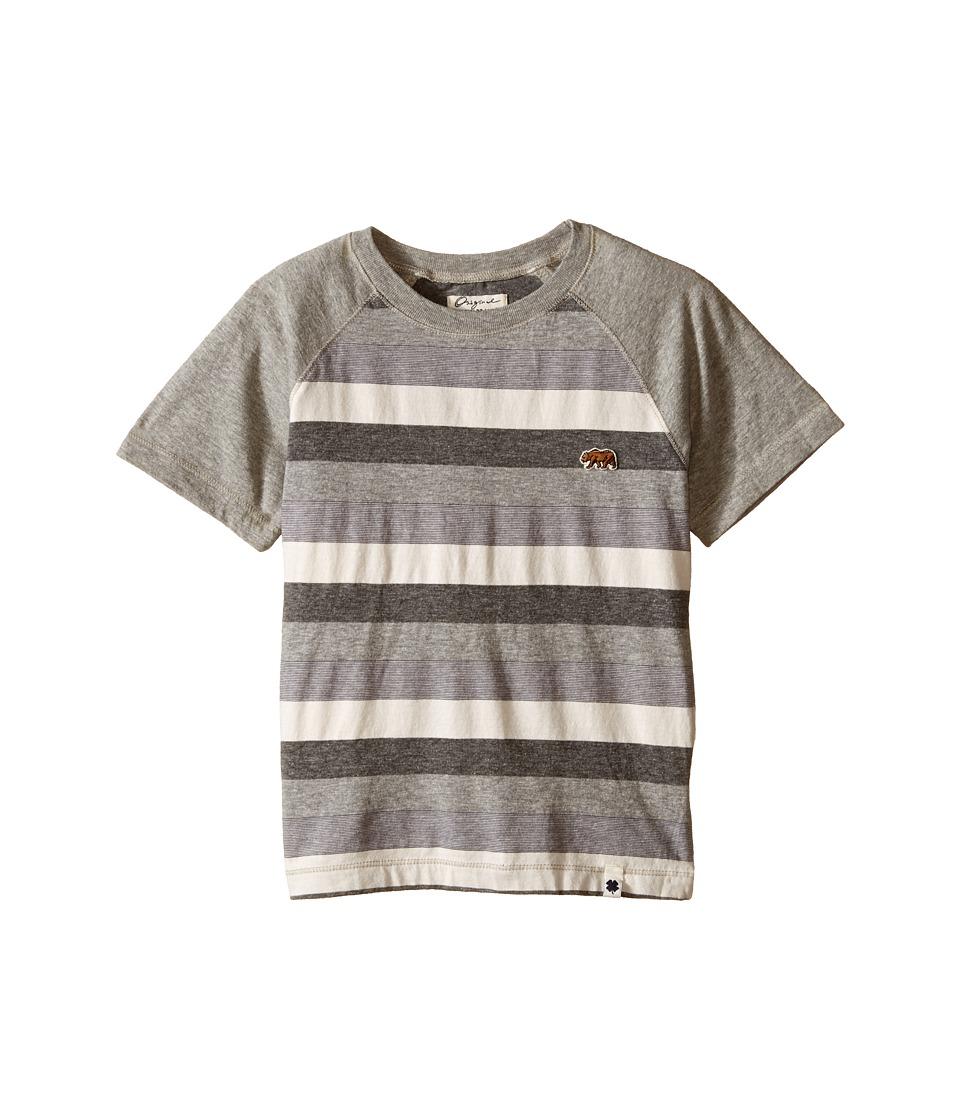 Lucky Brand Kids Bear Raglan Tee Little Kids/Big Kids Heather Light Boys T Shirt