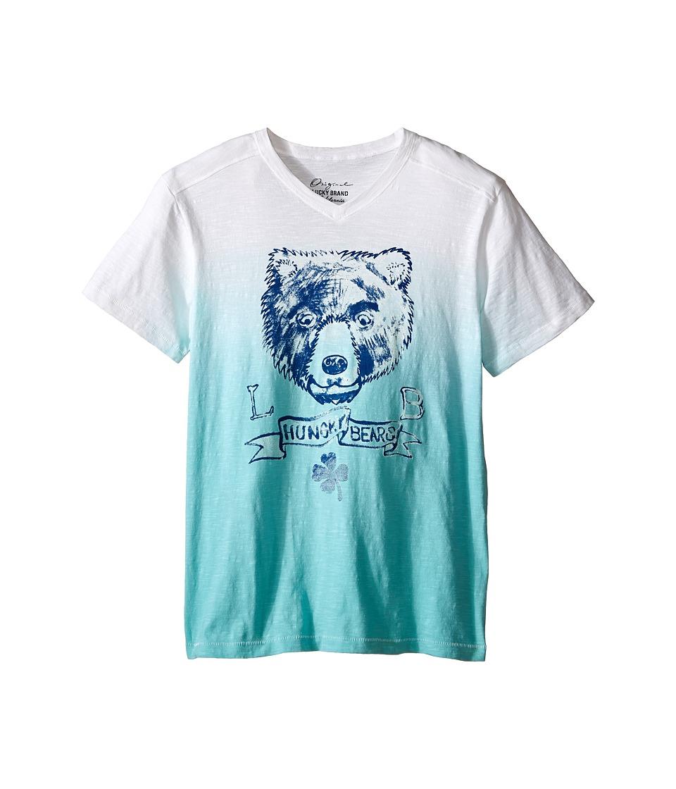 Lucky Brand Kids - Dip Dye Bear Tee (Big Kids) (Haze Aqua) Boy