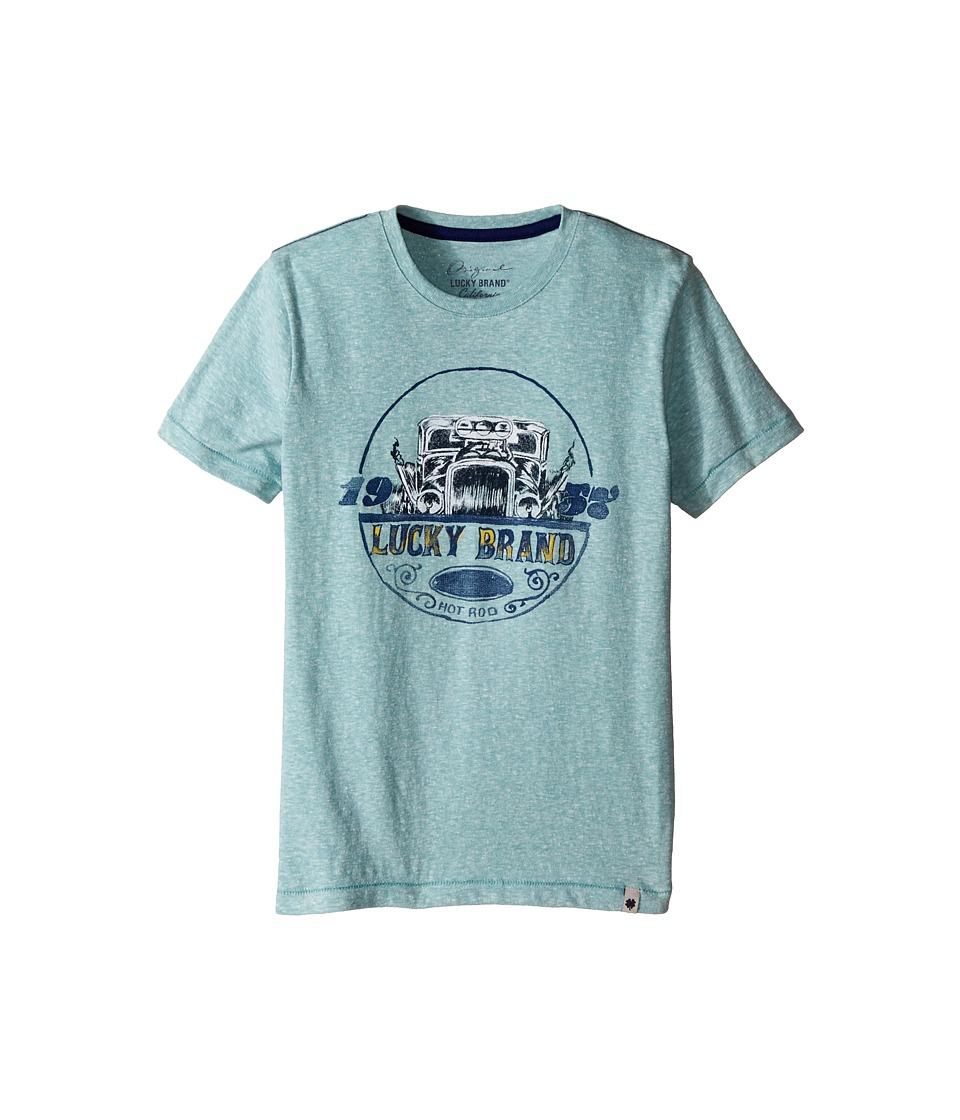 Lucky Brand Kids - Fast Lane Tee (Little Kids/Big Kids) (Haze Aqua) Boy