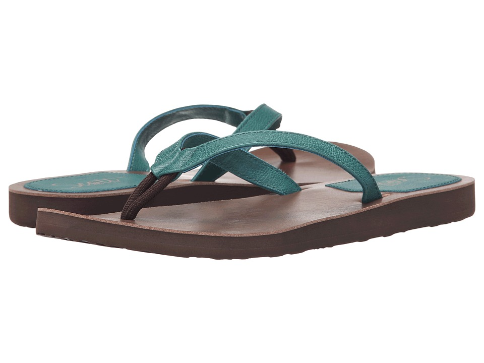 Scott Hawaii Pikake Green Womens Sandals