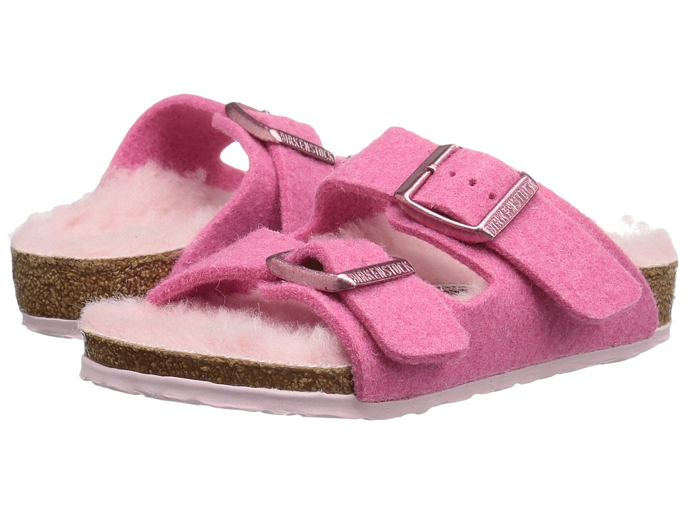 Birkenstock Kids Arizona (Toddler/Little Kid/Big Kid) (Lamb Pink Wool) Girls Shoes