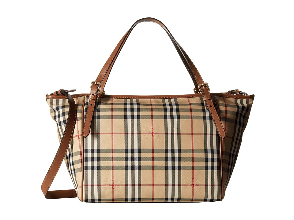 Burberry Kids Tote Diaper Bag (Tan) Tote Handbags