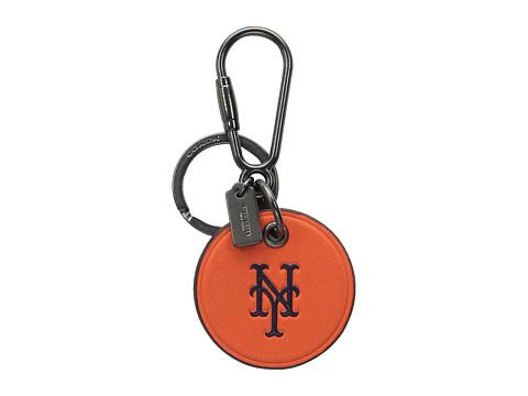 COACH MLB Round Key Fob - Ny Mets