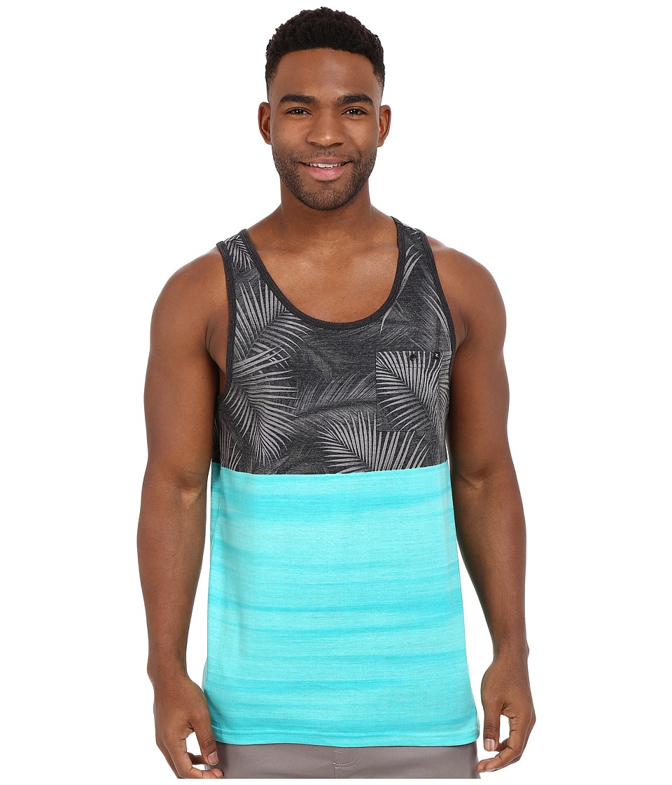 Rip Curl Split Tank Top Teal Mens Sleeveless