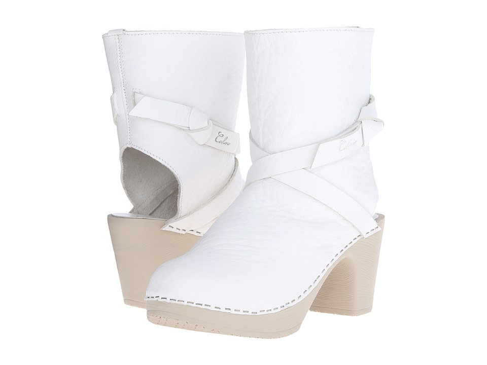 Calou Stockholm Julia Open Back White Womens Shoes