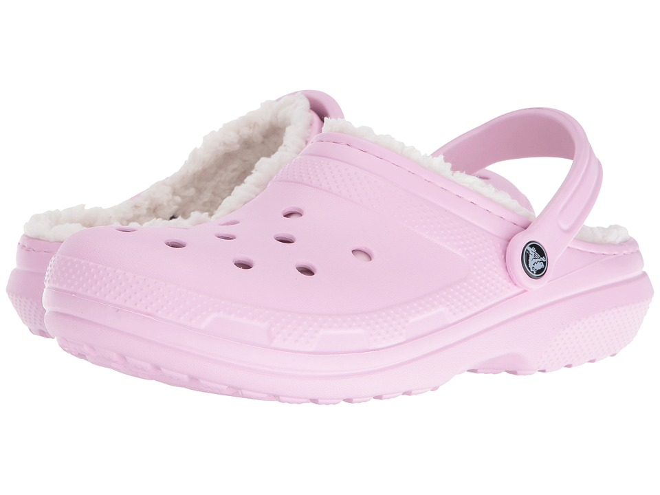 Crocs Classic Lined Clog (Ballerina Pink/Oatmeal) Clog Shoes