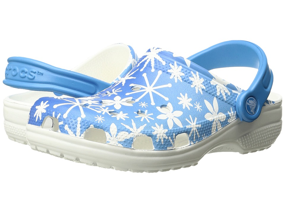 Crocs Classic Snowflake Clog (Bluebell) Clog Shoes