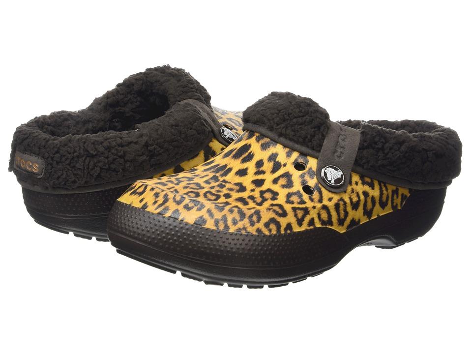 Crocs Classic Blitzen II Animal Clog (Gold/Espresso) Clog Shoes