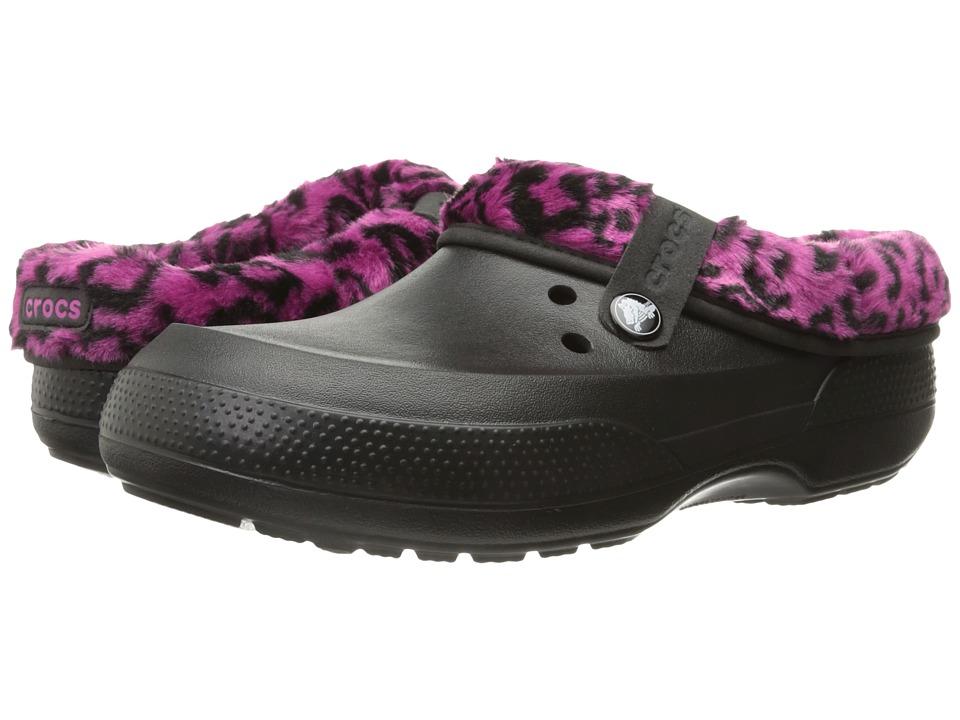 Crocs Classic Blitzen II Graphic Clog (Black/Berry) Clog Shoes