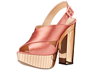 Charlotte Olympia - Electra (Power Pink/Gold Satin/Perspex)