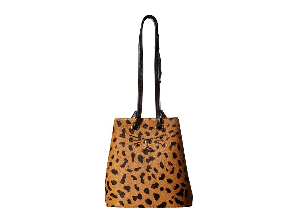 Charlotte Olympia - Feline Bucket Bag (Hyena) Handbags