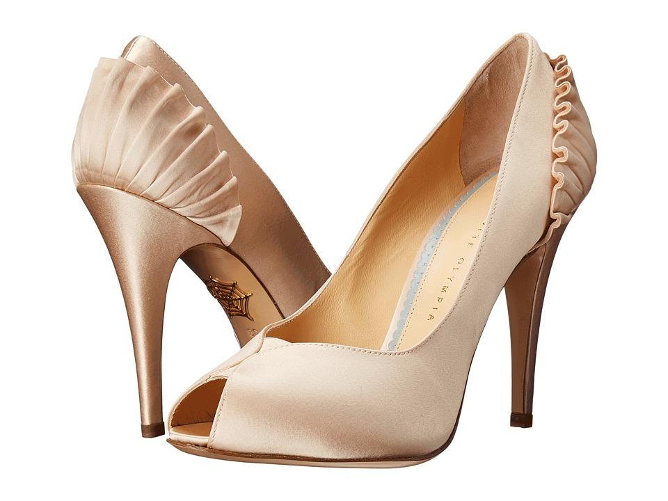 Charlotte Olympia Pavletta Ivory Silk Twill High Heels