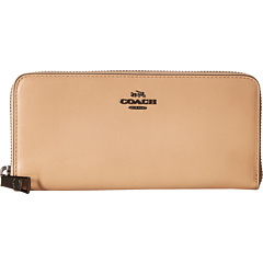 COACH Smooth Slim Accordian Zip (DK/Beechwood)