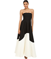 Halston Heritage - Strapless Color Blocked Structured Gown