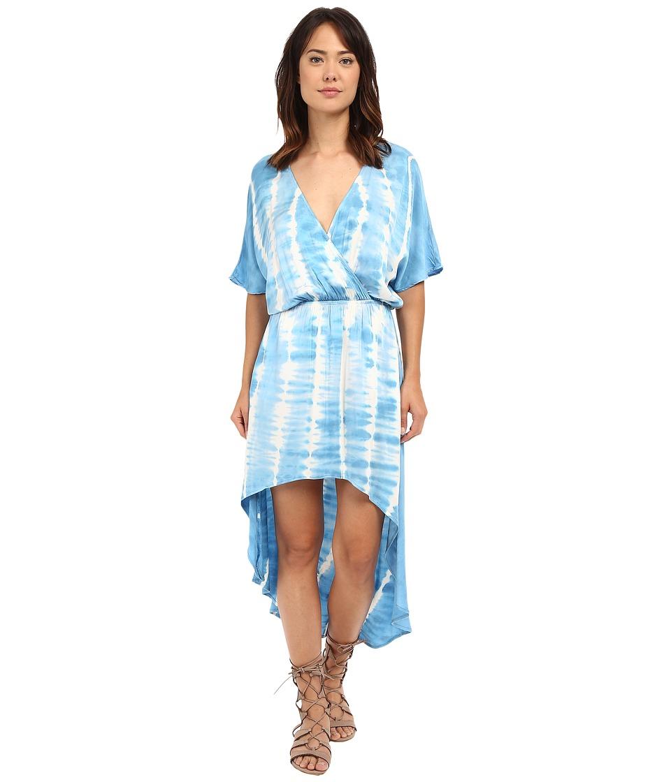 Gypsy05 Dolman High Low Tulip Dress Aqua Womens Dress