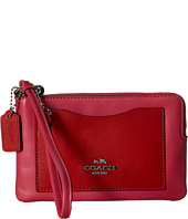 COACH - Box Program Color Block Corner Zip